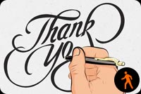 Writing Thank You Message Stationery, Backgrounds