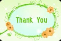 Thank you email stationery. Thank You With Swirly Flowers