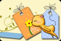 Cat Kisses The Flower Stationery, Backgrounds