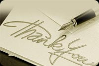 Note Says Thank You Stationery, Backgrounds