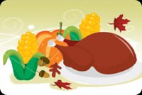 Turkey Delight For Thanksgiving Stationery, Backgrounds