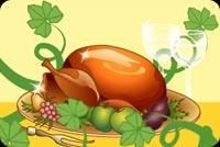 Thanksgiving email stationery. Mouthwatering Thanksgiving Turkey Delight