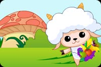 Cute Sheep And Large Mushroom Stationery, Backgrounds