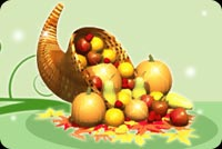 Thanksgiving email stationery. Fruits And Veggies For Thanksgiving