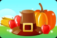 Hat, Pumpkin And Red Apples Stationery, Backgrounds