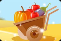Push Cart With Fruits Stationery, Backgrounds
