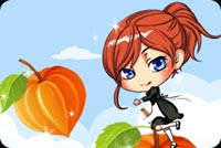 Girl Reaching For Pumpkin Stationery, Backgrounds