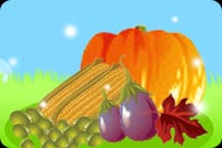 Colorful Thanksgiving Meals Stationery, Backgrounds