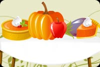 Fruits And Vegetables For Thanksgiving Stationery, Backgrounds