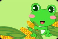 A Frog Holding Corn Stationery, Backgrounds