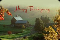 Thanksgiving email stationery. Happy Thanksgiving In The Countryside