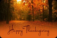 Happy Thanksgiving Serene Scenery Stationery, Backgrounds