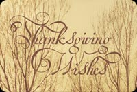 Thanksgiving Wishes For The Family Stationery, Backgrounds