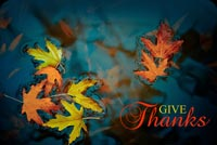Thanksgiving email stationery. Give Thanks During Thanksgiving