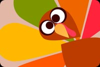 Thanksgiving Turkey Surprise Stationery, Backgrounds