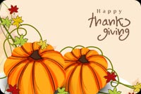Thanksgiving email stationery. Thanksgiving Family Wishes