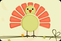 Thanksgiving email stationery. Cute Turkey Thanksgiving Wishes