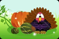Fat Yummy Thanksgiving Turkey Stationery, Backgrounds