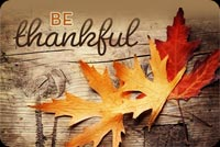 Be Thankful Fall Leaves Stationery, Backgrounds