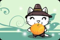 Happy Cat And A Pumpkin Stationery, Backgrounds