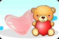 Bear And 2 Hearts Stationery, Backgrounds