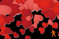 Animated Hearts Exploding Stationery, Backgrounds