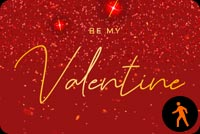 Animated Be My Valentine Sparkling Desire Stationery, Backgrounds