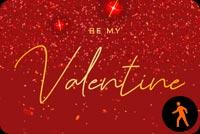 Animated Be My Valentine Sparkling Desire Stationery, Backgrounds