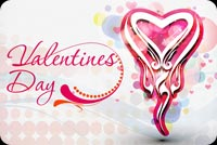 The Valentines Day Heart  Stationery, Backgrounds
