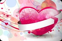 Valentines day email stationery. The Pink V-day Heart