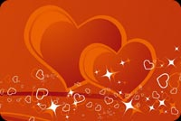Valentines day email stationery. The 2 Happy Hearts