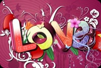 Colorful Valentines Day Greeting Stationery, Backgrounds