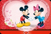 Valentines day email stationery. Micky And Minnie Love