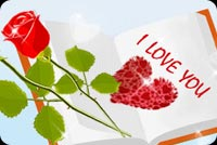 Flowers And Heart Are Love Stationery, Backgrounds