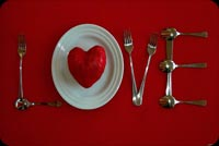 Love Valentines Day Dinner Stationery, Backgrounds