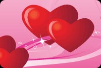 Beating Hearts And Valentines Stationery, Backgrounds