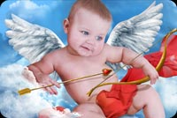 Cupid Looking For A Target Stationery, Backgrounds