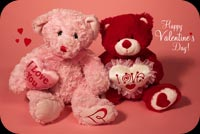 Valentine's Day Teddy Bears Love Stationery, Backgrounds