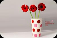 Valentines day email stationery. Romantic Flowers