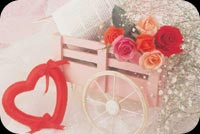 Valentine's Day Roses Stationery, Backgrounds