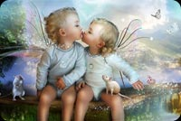 Cute Fairy Love Stationery, Backgrounds