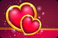 Love Valentines Hearts Stationery, Backgrounds