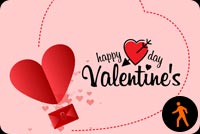Animated Happy Valentine Flying Hearts Stationery, Backgrounds