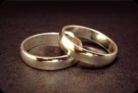 2 Silver Wedding Rings Stationery, Backgrounds
