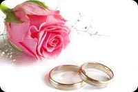 Pink Flower And Wedding Rings Stationery, Backgrounds