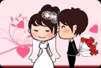 Groom Kisses Bride Stationery, Backgrounds