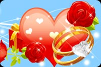 Heart, Ring And Red Roses Stationery, Backgrounds