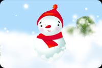 Winter email stationery. Frosty The Snow Man