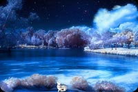 Beautiful River At Winter Stationery, Backgrounds