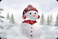 Frosty Wearing Red Attire Stationery, Backgrounds